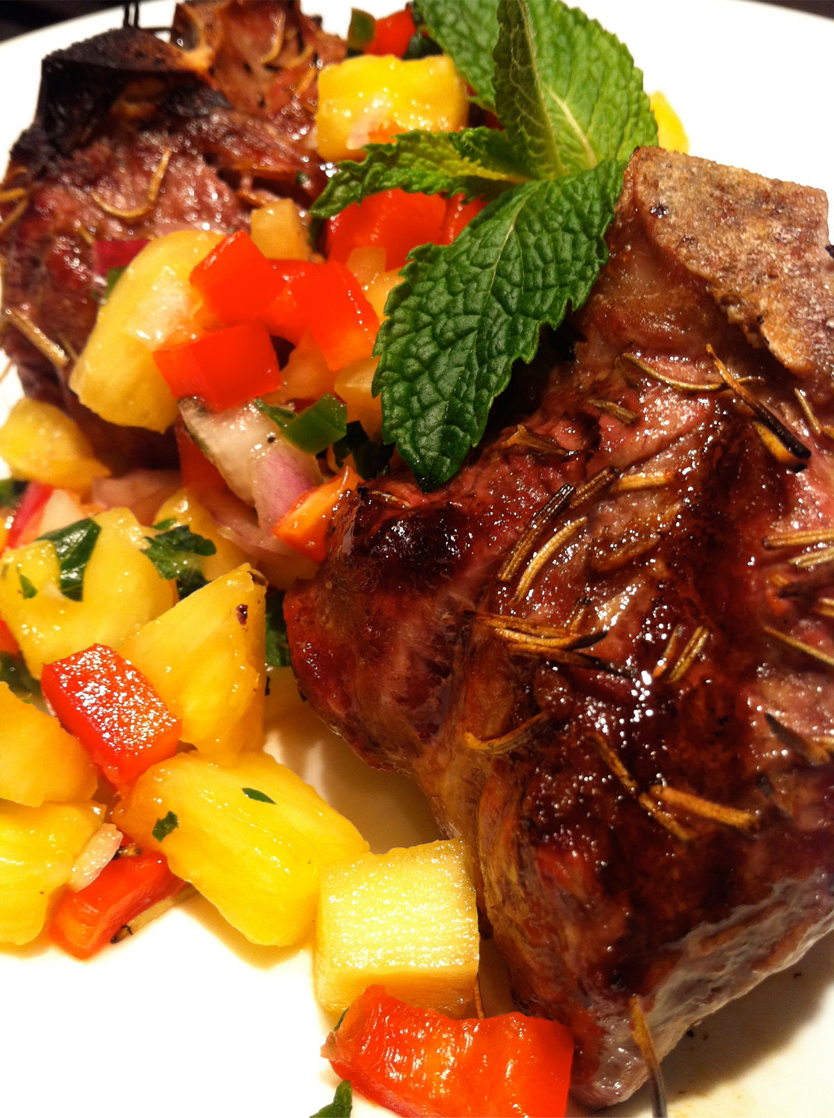 Grilled-Rosemary-Lamb-Chops-with-Pineapple-Mint-Salsa
