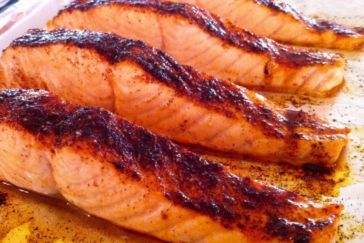 A simple spice rub and easy glaze meet heart-healthy salmon in this effortless entree that's worthy of the regular dinner rotation!