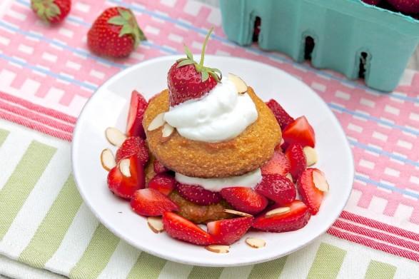 Almond Coconut Strawberry Shortcake -- healthy & gluten-free