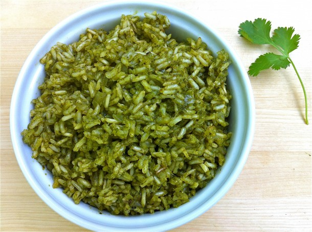 Green Rice from The Fountain Avenue Kitchen
