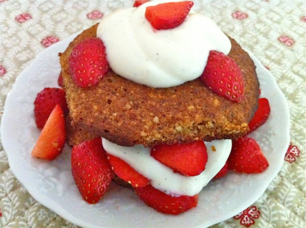 Almond Coconut Strawberry Shortcake -- healthy & gluten-free