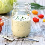 Greeked-Out Gorgonzola Dressing -- thick and delicious yet healthy