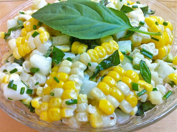 ... Avenue Kitchen – Corn and Cucumber Salad with Basil and Chives