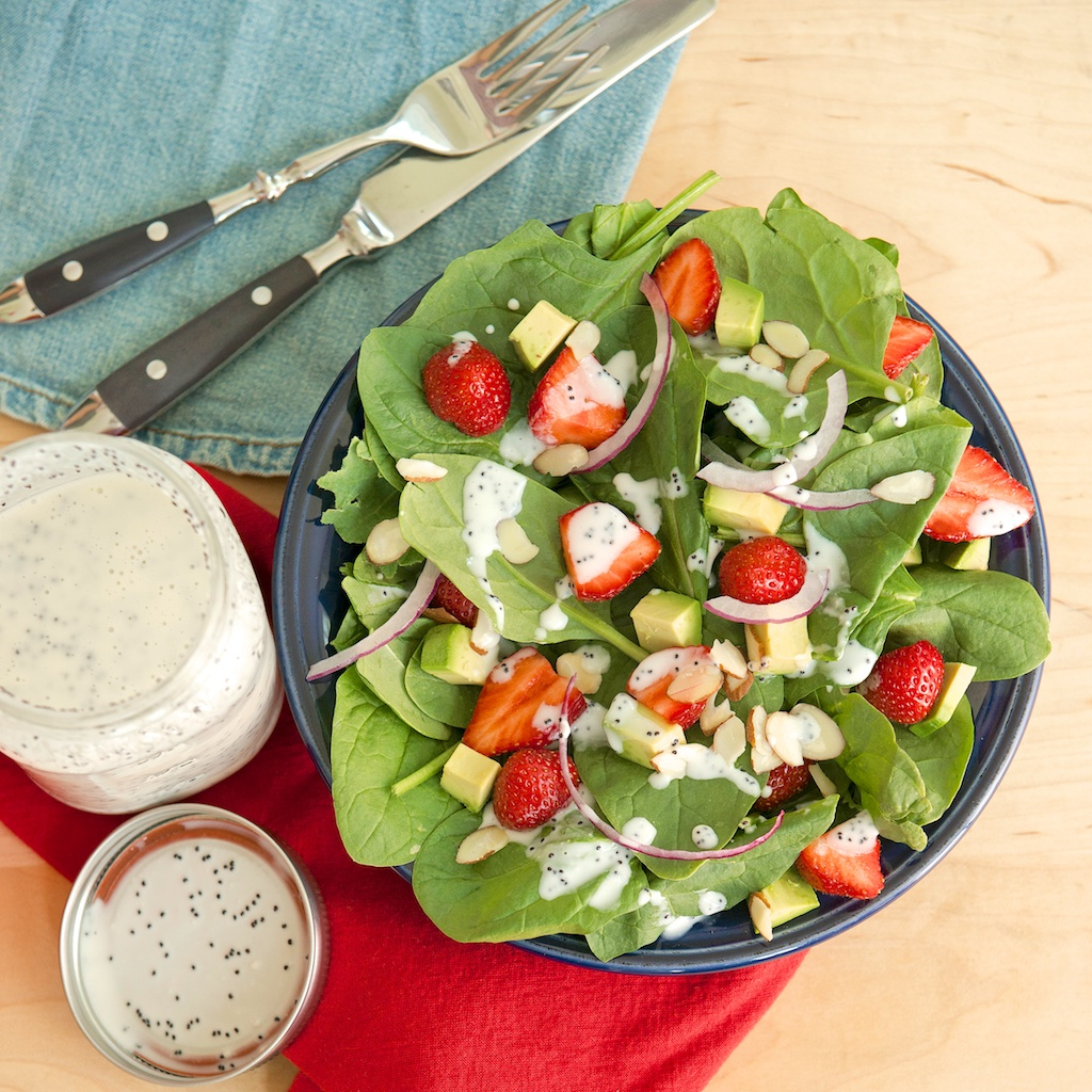 ... Kitchen – Strawberry Salad with Creamy Poppy Seed Yogurt Dressing