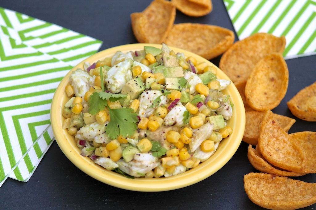 Crab, Avocado & Corn Salad with Cilantro & Lime