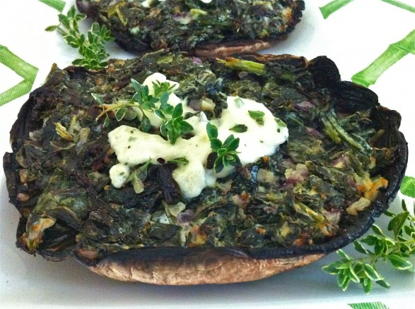 ... Avenue Kitchen – Kale and Boursin-Stuffed Grilled Portobellos