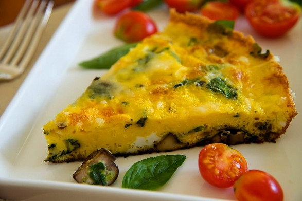 Spinach And Mushroom Frittata Recipe — Dishmaps