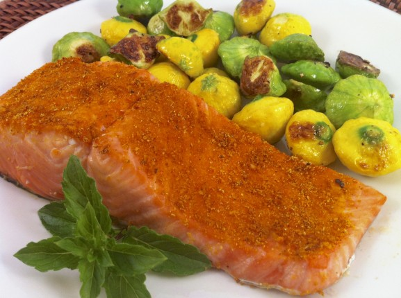 Indian spiced broiled salmon the fountain avenue kitchen many people have mentioned to me over the years that they dont cook seafood because they cant tell how long to cook it while it is difficult to give an ccuart Choice Image