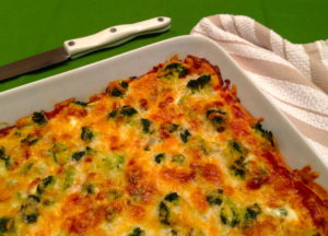 Broccoli and Prosciutto Bake