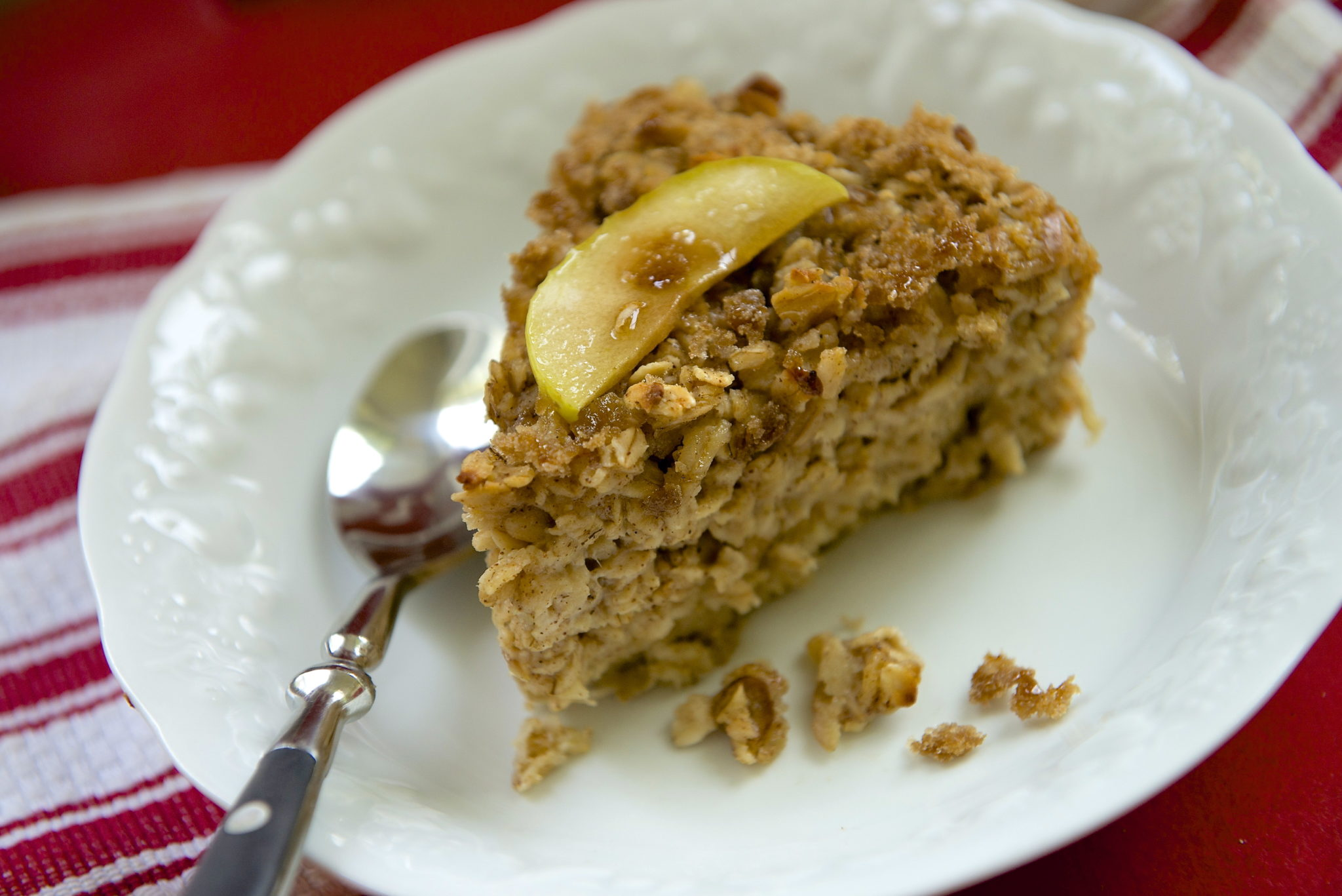Overnight Crunchy Top Apple Cinnamon Baked Oatmeal