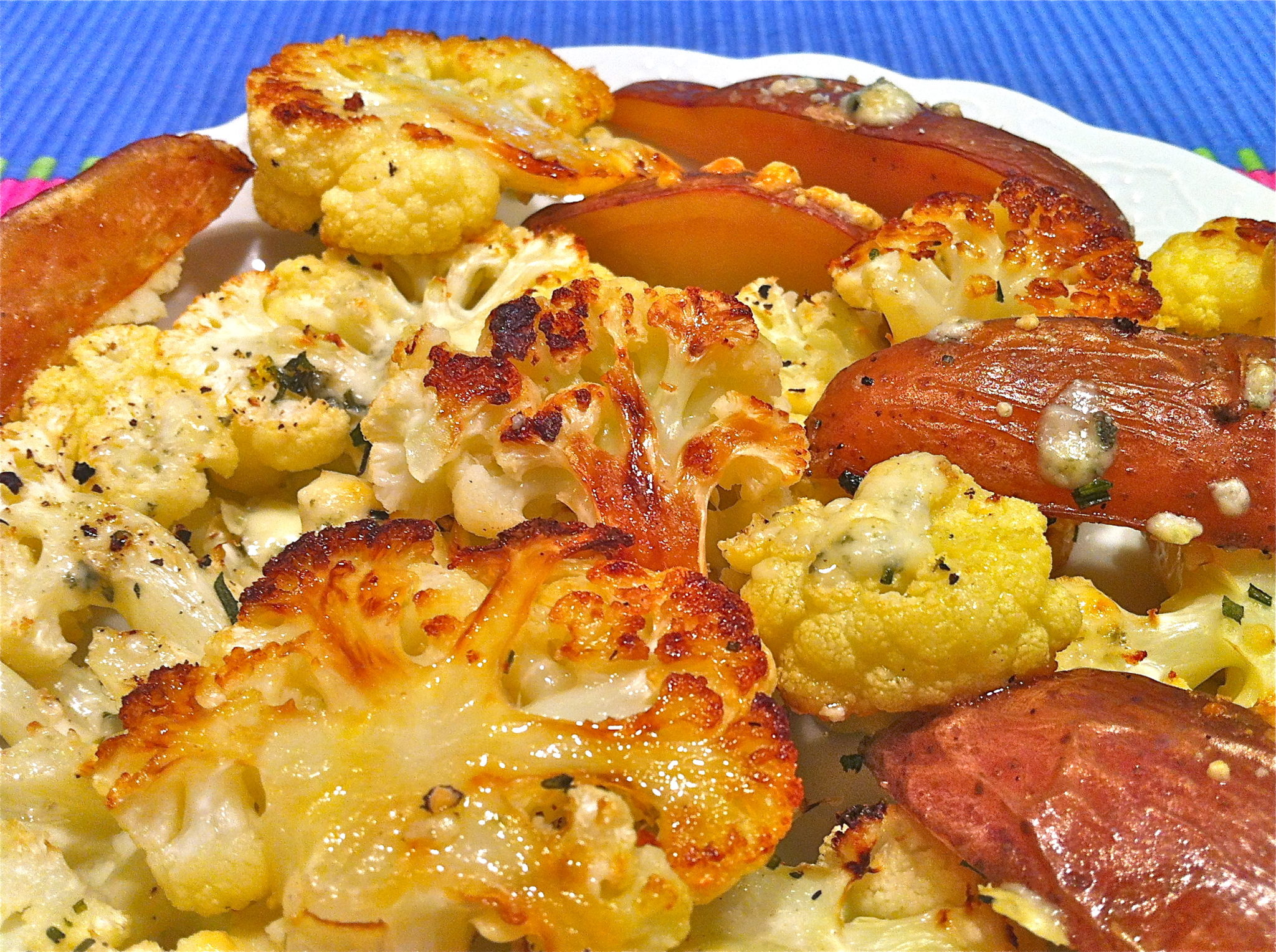 Roasted Cauliflower and New Potatoes with Blue Cheese ...