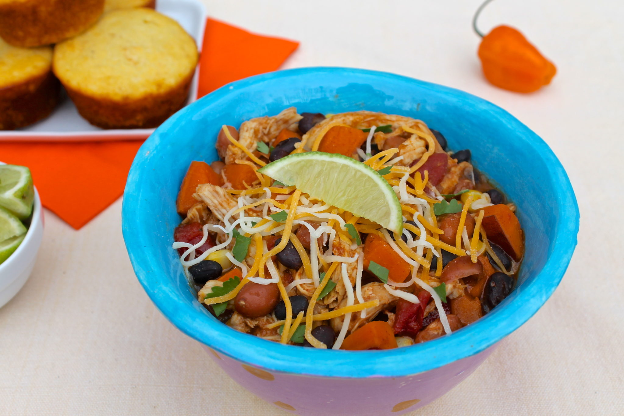 Slow Cooker Spicy Mango Chicken Chili