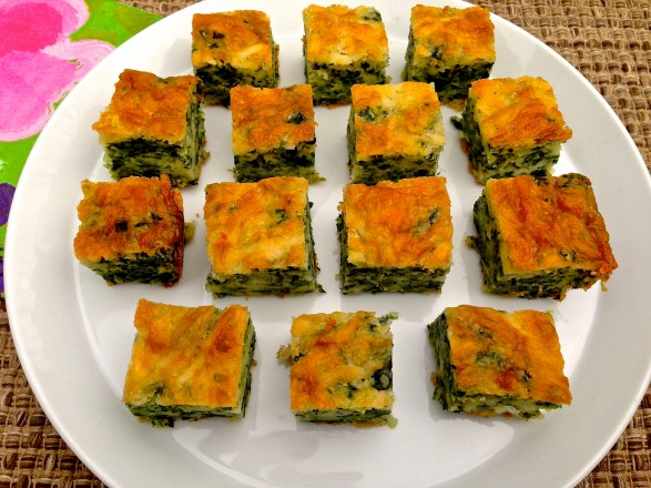 The Fountain Avenue Kitchen – Baked Cheddar Spinach Squares