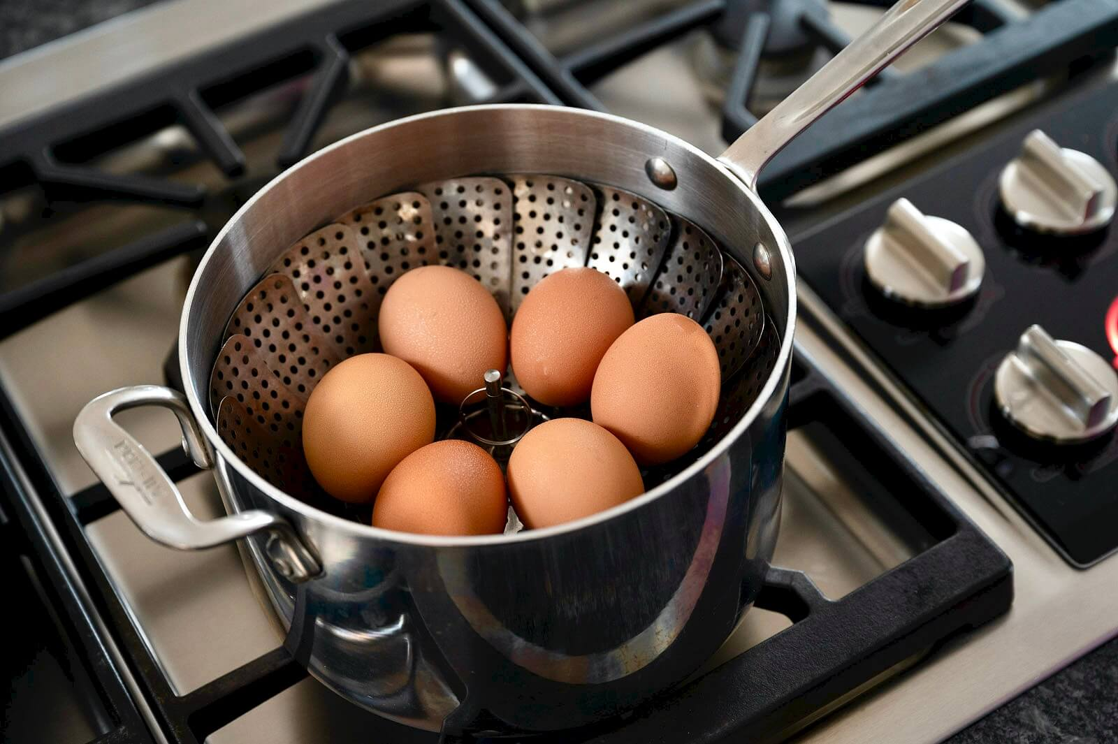 """You don't need an Instant Pot for perfectly cooked eggs (with shells that slip right off!) thanks to this simple technique. """"Easy Peel Eggs"""" can be prepared with soft, medium, or hard yolks and will store in the fridge for a week."""