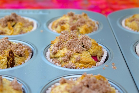 Sweet and tangy with a tender crumb, Rhubarb Streusel Muffinsare sure to become a seasonal favorite!