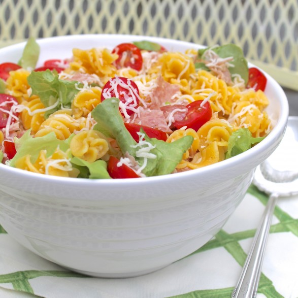 A reader-favorite (and reader-created!) recipe, this satisfying pasta salad was inspired by the classic sandwich is a tried-and-true crowdpleaser. Easy to make, too!