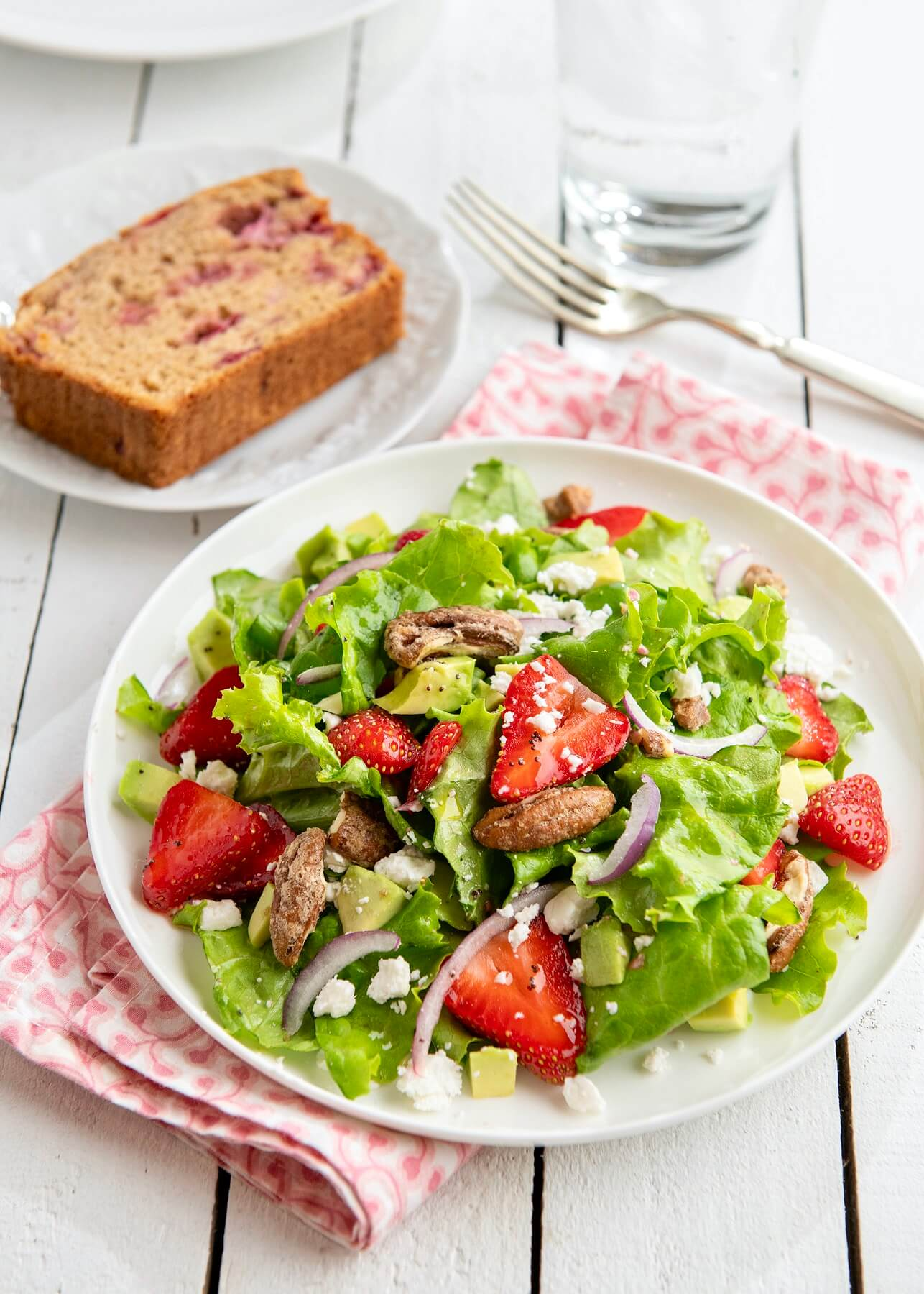 A light drizzle of this sweet and tangy vinaigrette makes a classic strawberry salad shine. Eating your greens never tasted so good!