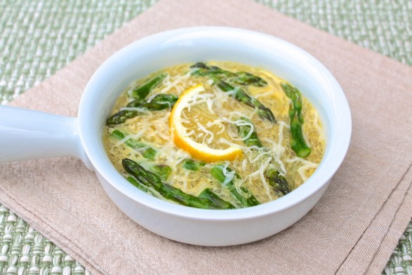 Asparagus Egg Noodle Soup -- fast and flavorful