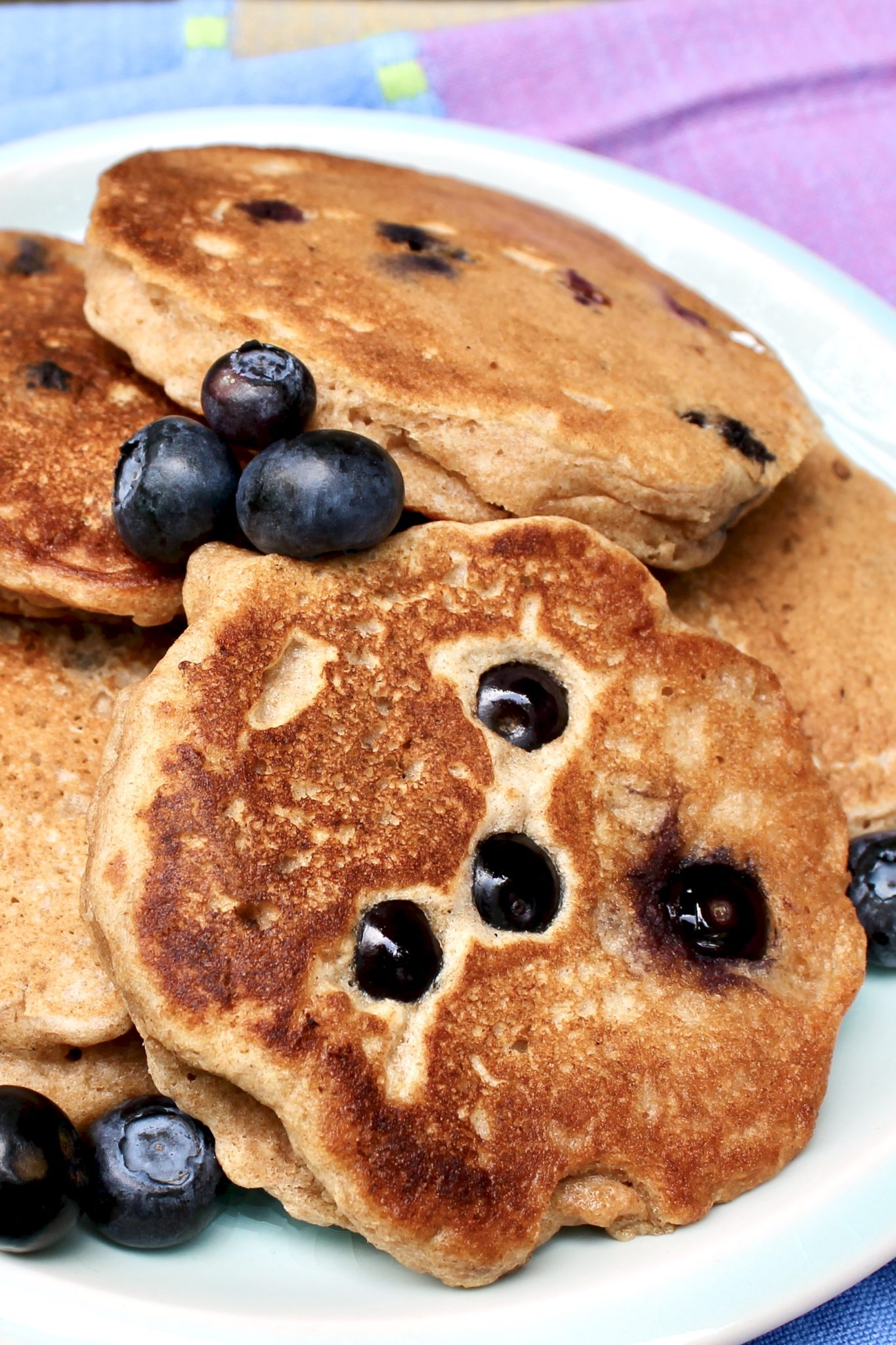 Looking for a light, fluffy pancake recipe that offers a nutritional boost? Packed with whole grains and fiber, this delicious stack is your answer!