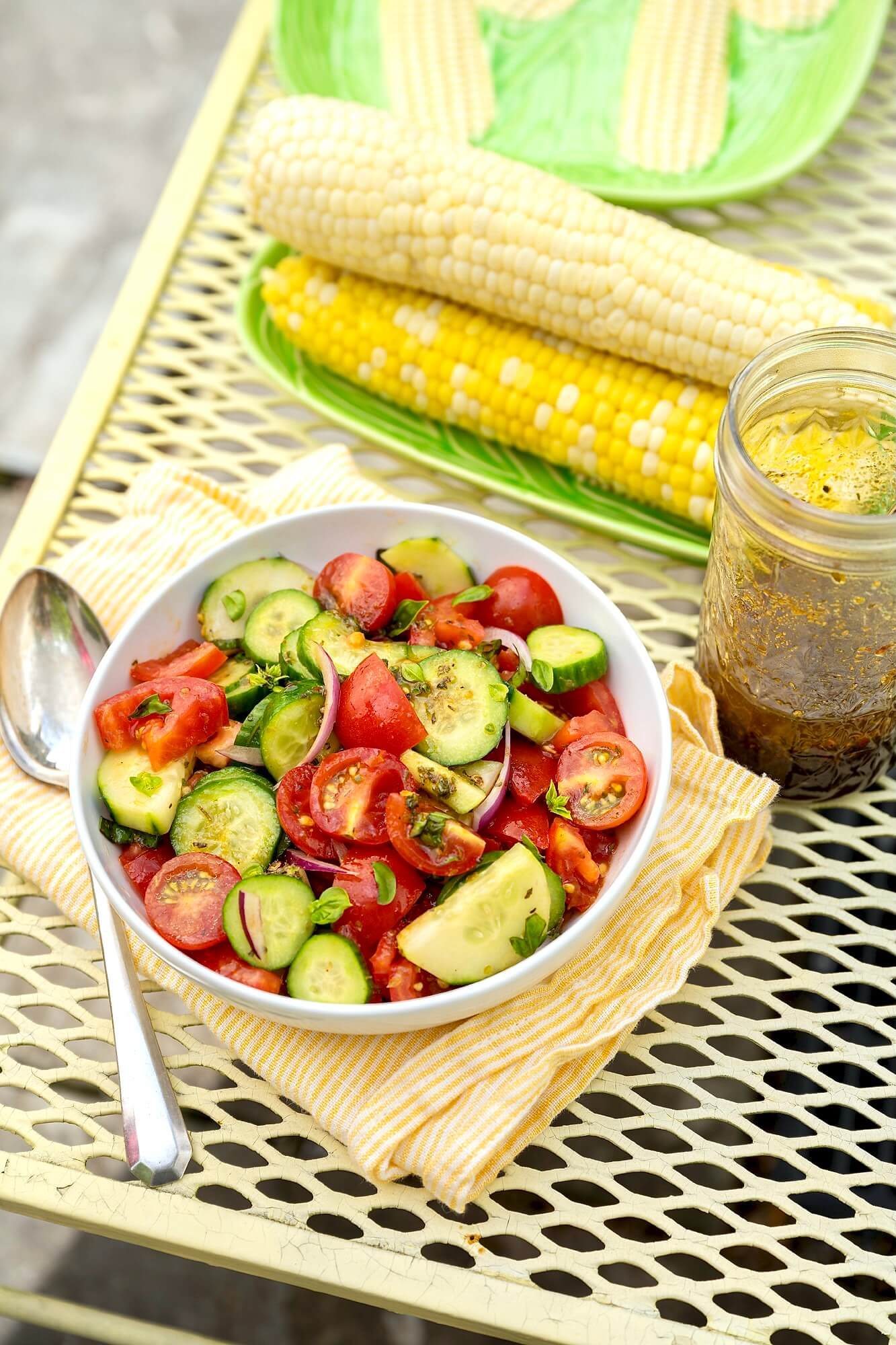 You barely need a recipe for this garden-fresh summer salad that will round out a broad range of meals, from corn on the cob and burgers to grilled fish or chicken.