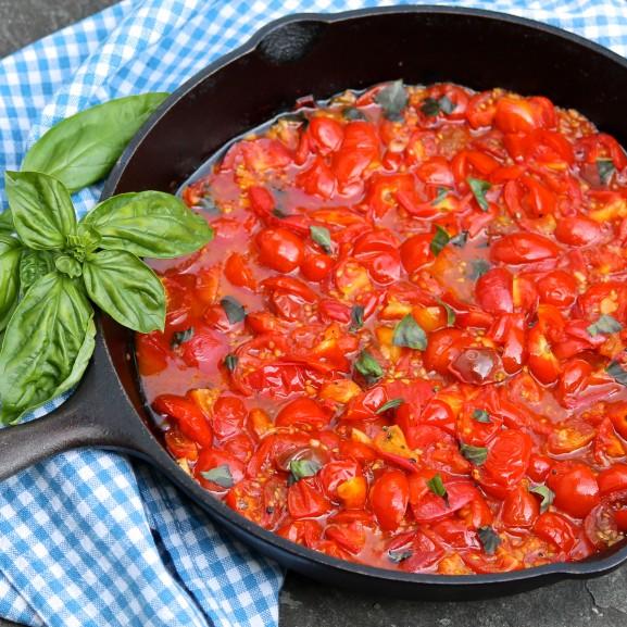 Speedy Cherry Tomato Sauce
