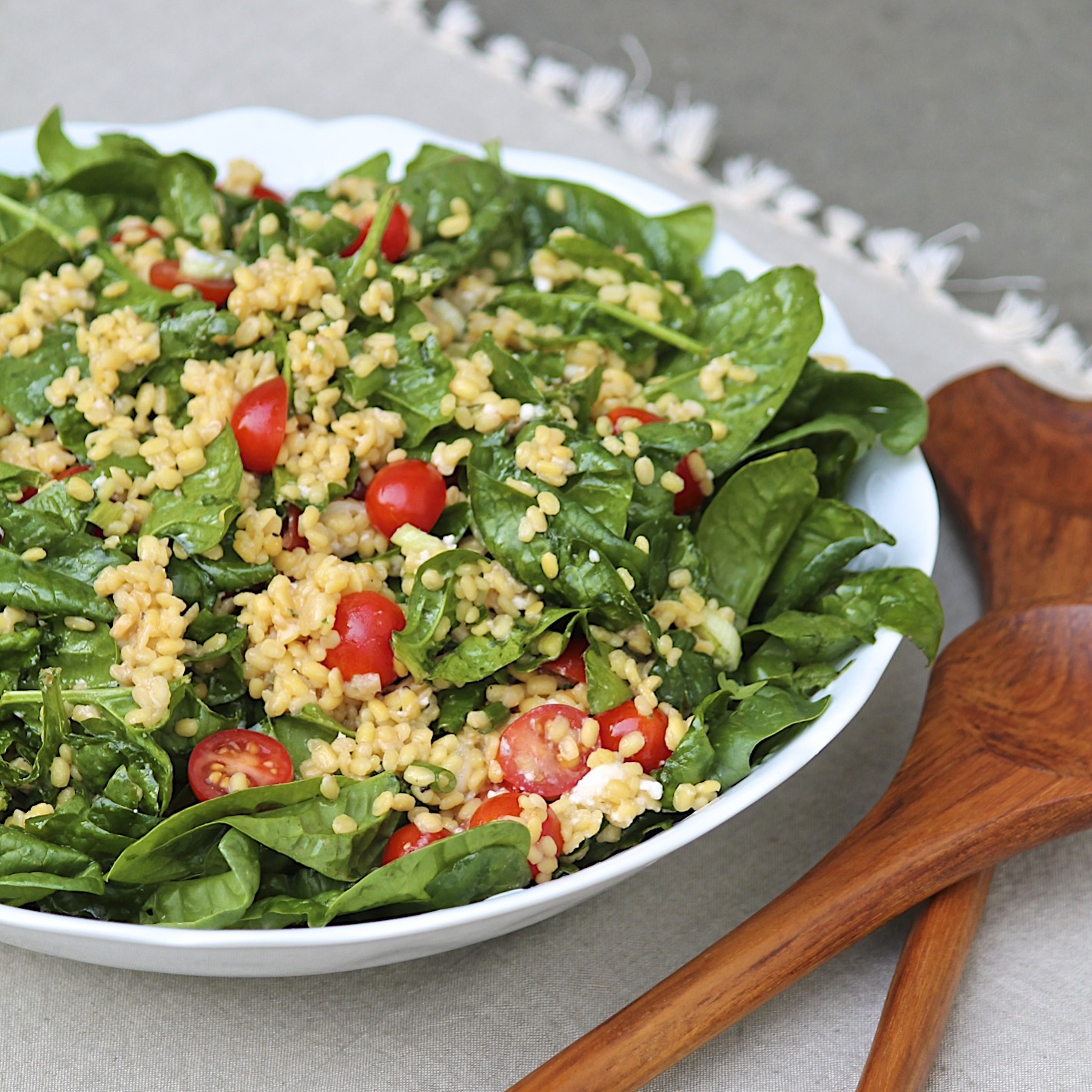 The Fountain Avenue Kitchen – Warm Yellow Lentil Salad with Double ...