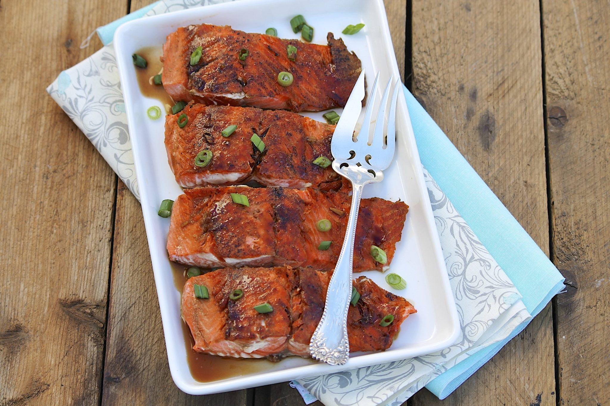 Ginger Soy Glazed Salmon