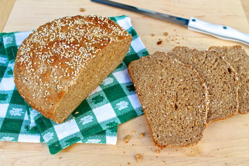 Brown Soda Bread with Steel Cut Oats