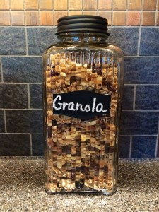 A good friend sent me this photo of her new kitchen canister, which is dedicated solely to this granola recipe. I'm so glad her family enjoys it a much as we do!