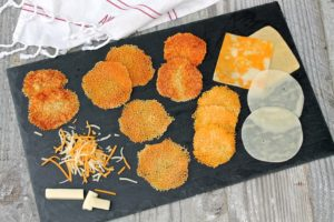 Cheese Crisps…a delightful and super-speedy addition to a cheese plate.