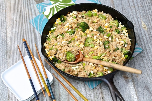 Cauliflower Fried Rice -- forget that this sounds so healthy...it's one of my kids' favorites!!