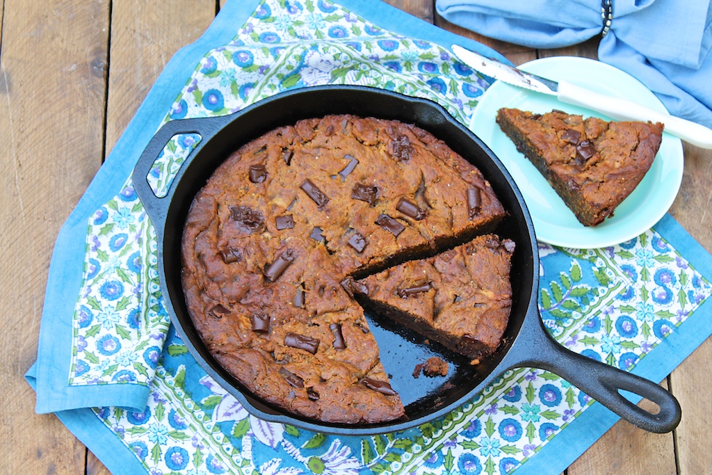 Secret Ingredient Chocolate Peanut Butter Skillet Cookie