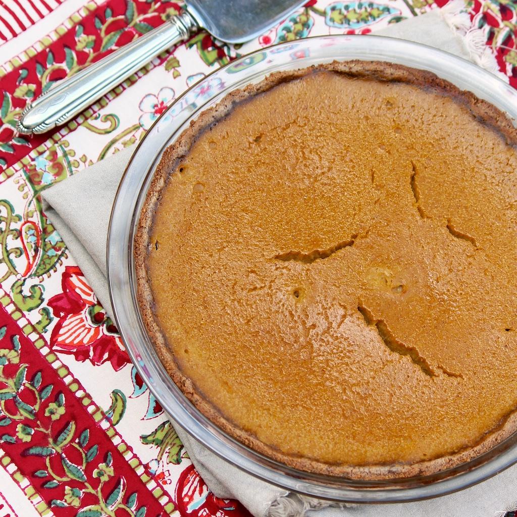 Maple Pumpkin Pie (with optional GF almond crust)