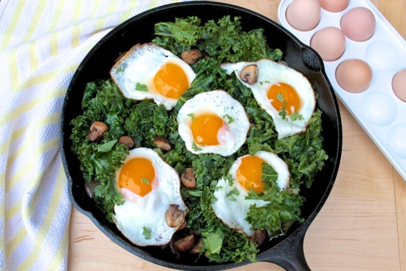 Try Kale and Eggs for a quick and healthy dinner...the yolk creates a delicious sauce