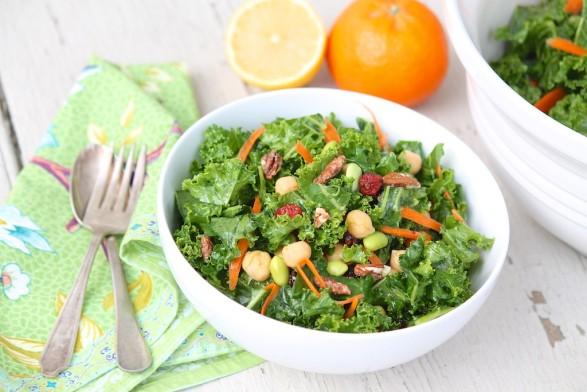 Chopped Kale Salad with Meyer Lemon Vinaigrette...and an easy substitute for Meyer lemon juice