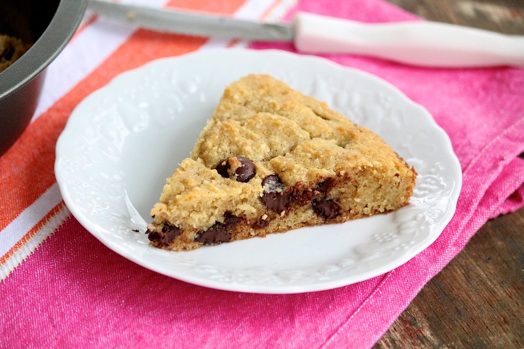 Dark Chocolate Blondies -- grain-free and naturally sweetened