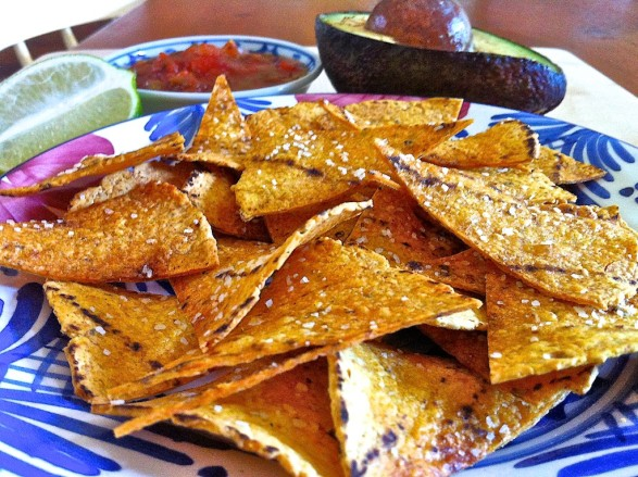 """Hint of Lime"" Tortilla Chips -- a copycat version of a store-bought favorite"