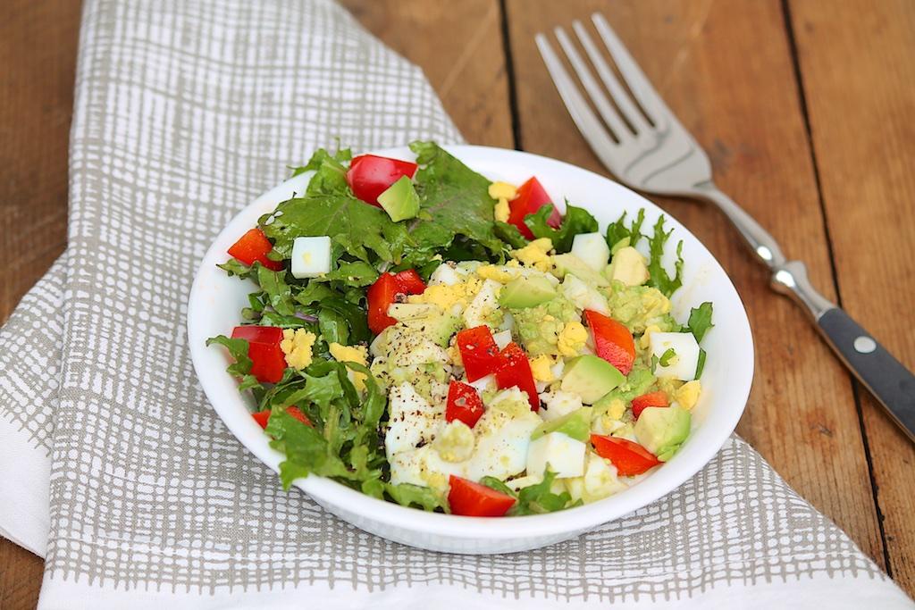 Super Easy Egg & Avocado Salad