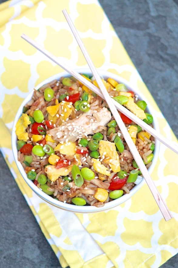 Chicken Fried Rice -- use leftover rice for a super speedy meal