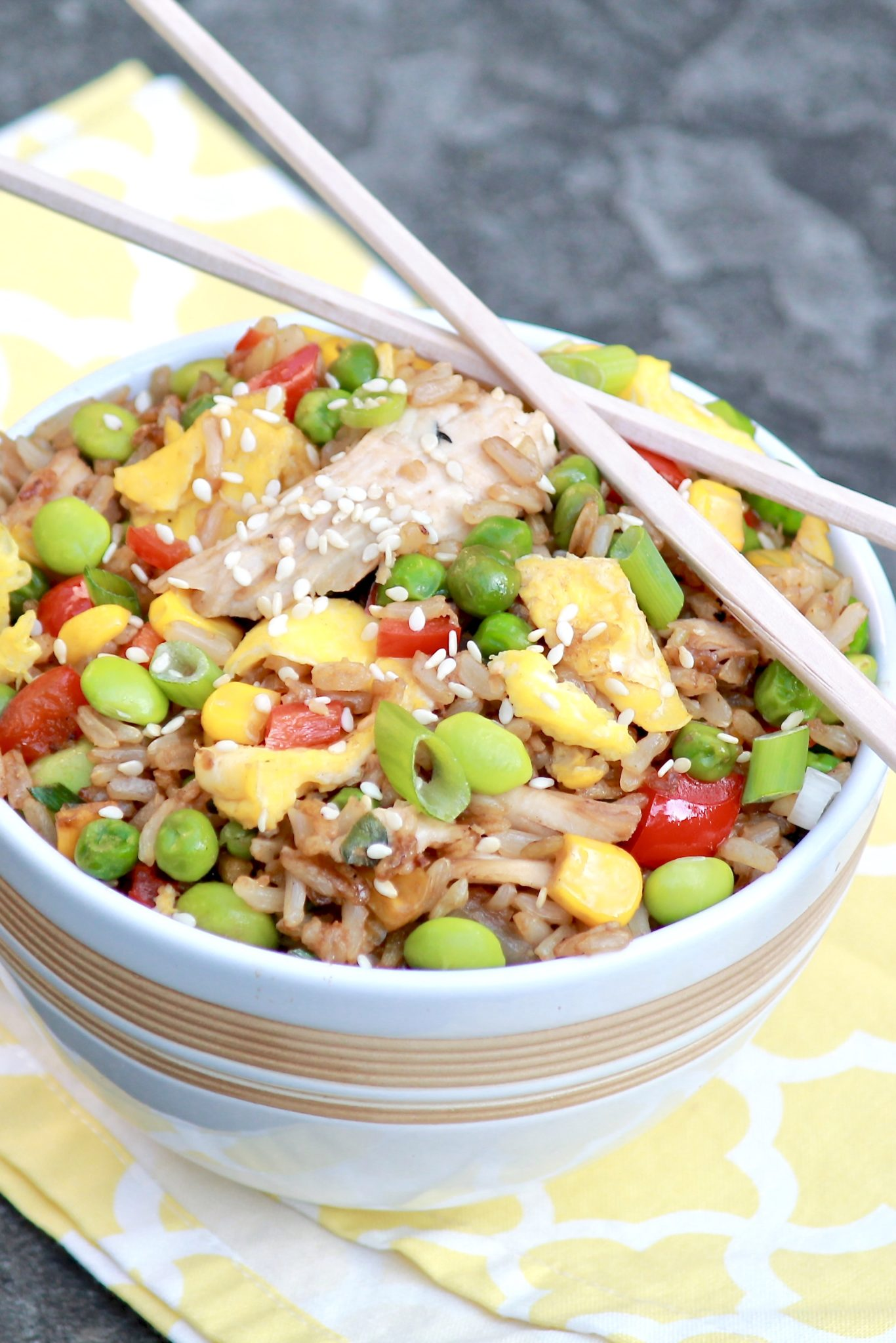 The flavor of homemade fried rice will rival your favoritetakeout version and be healthier, too. Make use of leftover rice and chicken for the easiest of meals.