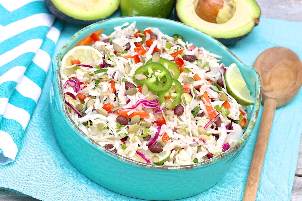 Southwestern Coleslaw Salad -- a healthy, mayo-free salad that's a ...