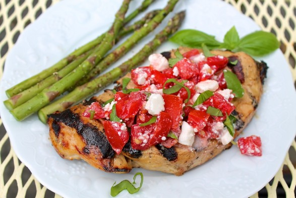 Balsamic Grilled Chicken with Tomato Feta Salsa
