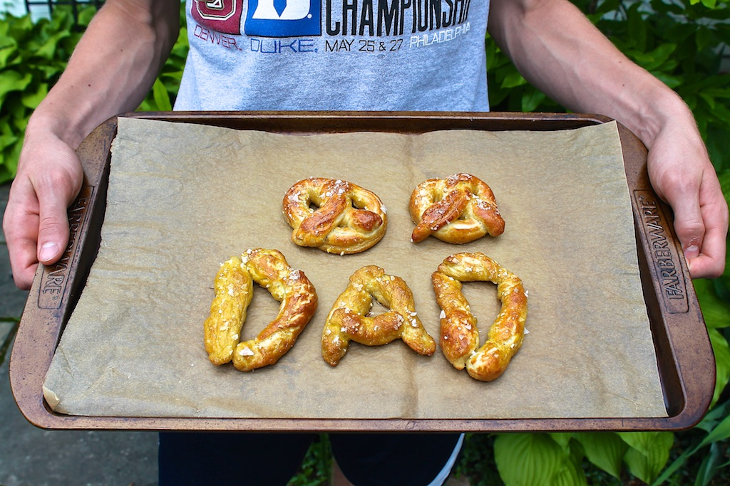 Roll these clever pretzels into letters and spell out names for special occasions or twist them into the traditional shape. Either way, they're a fun project and a crowd-pleasing snack!