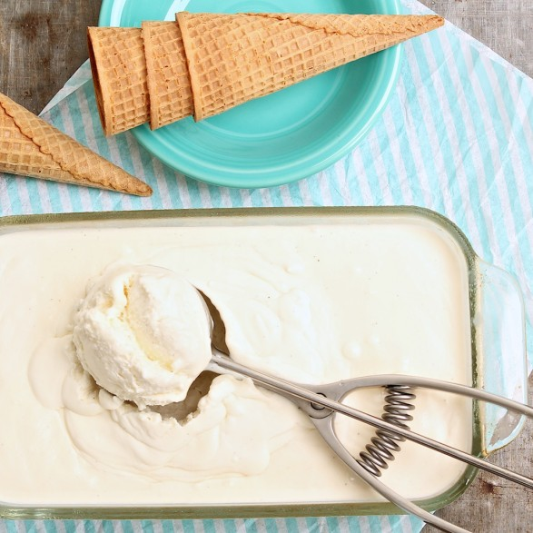 5-Ingredient No-Churn Vanilla Ice Cream