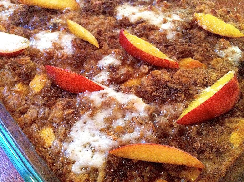 Peach Swirl Baked Oatmeal