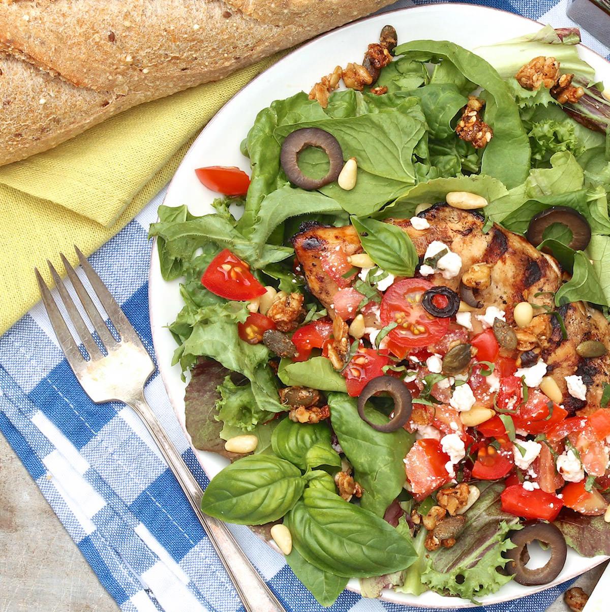 Greek-Style-Grilled-Chicken-Dinner-Salad