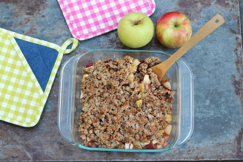 Honeycrisp Apple Crisp (healthy and gluten-free)