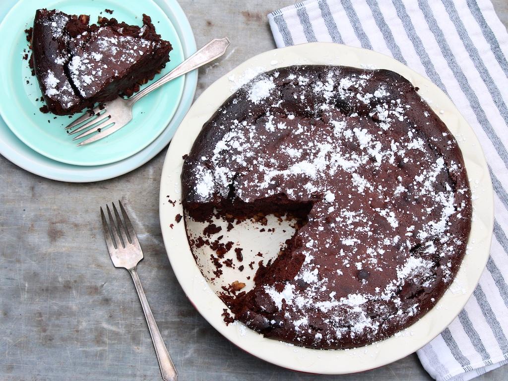 Aunt Glenna's Flourless Fudge Pie — The Fountain Avenue Kitchen