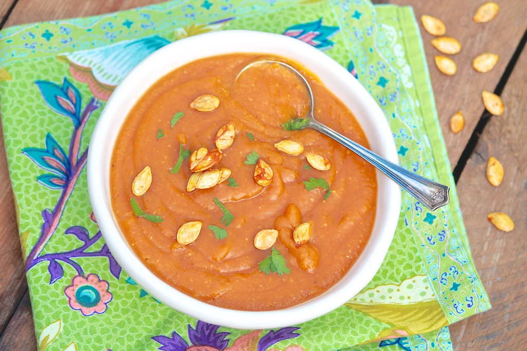 Curried Butternut Squash & Red Lentil Soup