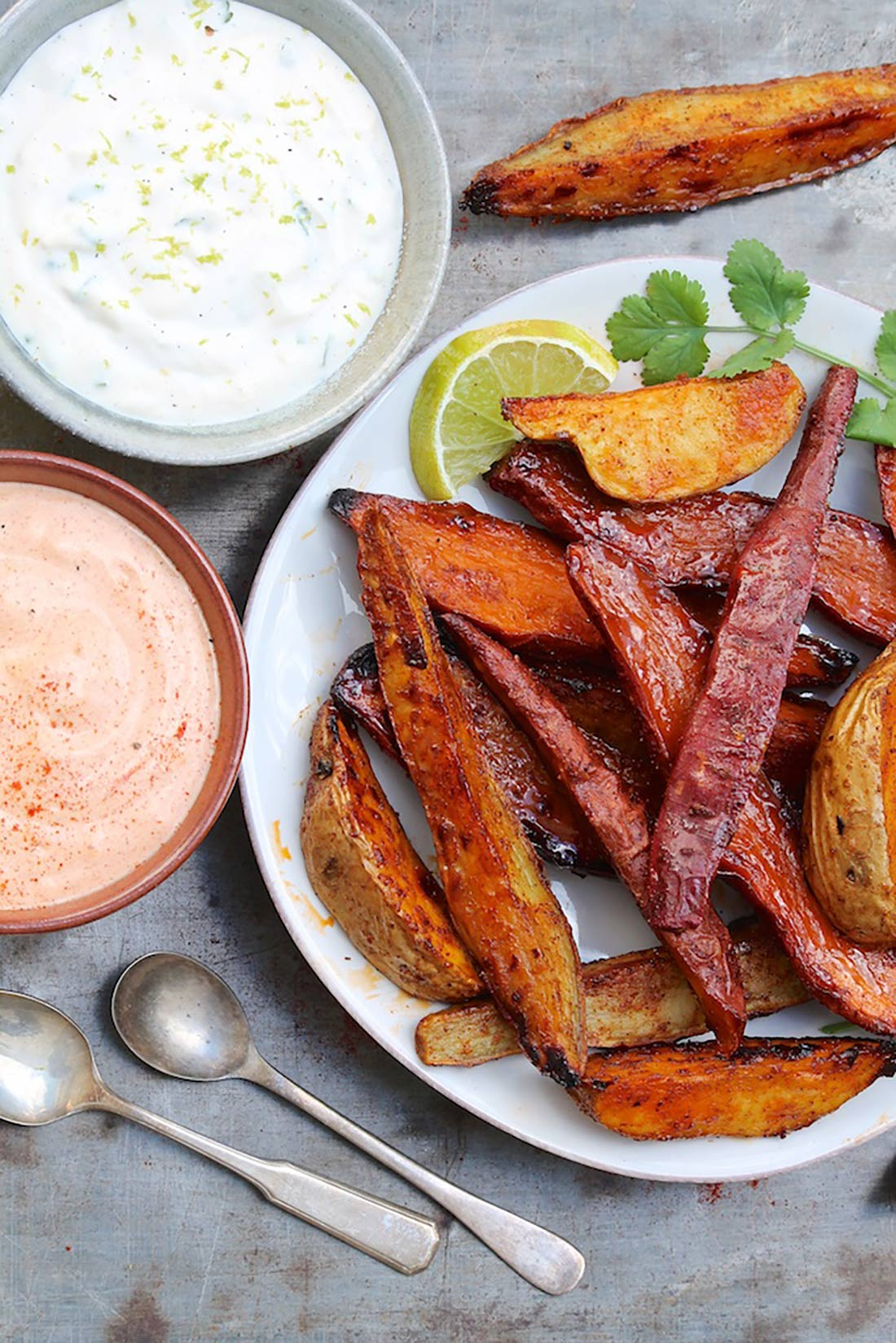 Spicy Sweet Potatoes with Smoked Paprika Aioli